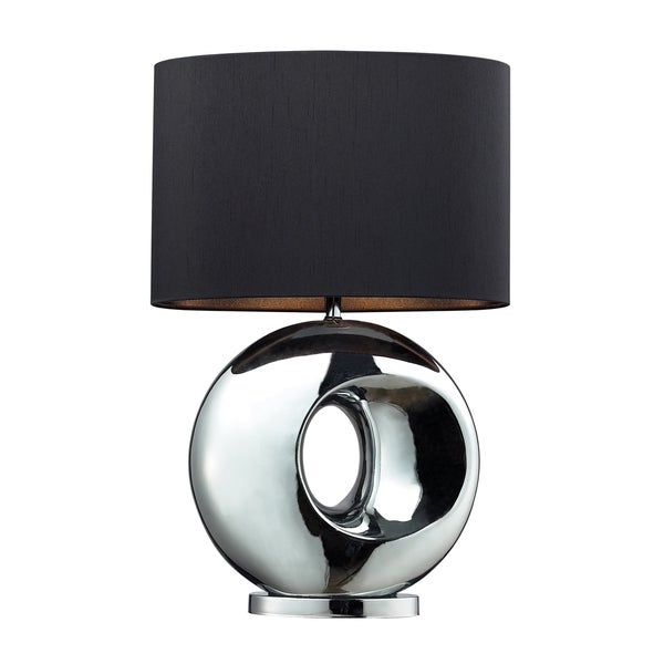 Tobermore 1-light Ceramic Chrome Table Lamp