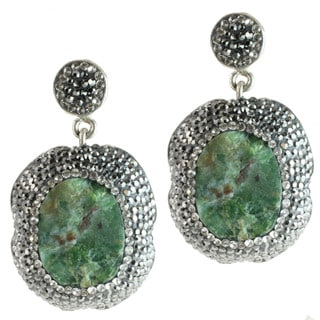 Dallas Prince Sterling Silver and Quartz and Marcasite Earrings