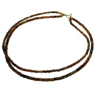 Gold over Silver Multi-tourmaline Necklace