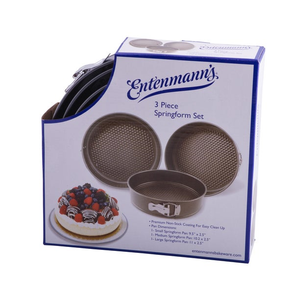 Entenmann's Classic Bakeware 3-piece Springform Pan Set