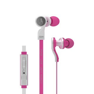 MEElectronics EDM Universe In-Ear Headphones with Headset Functionality and Universal Volume Control (PLUR/Pink)