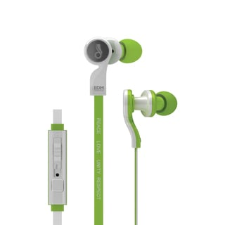 MEElectronics EDM Universe In-Ear Headphones with Headset Functionality and Universal Volume Control (PLUR/Green)