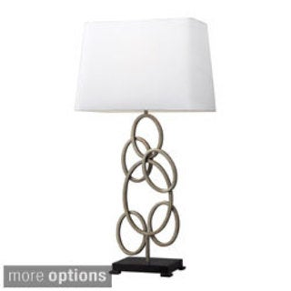 Knox 1-light Antique Silver Multiple Circle Table Lamp