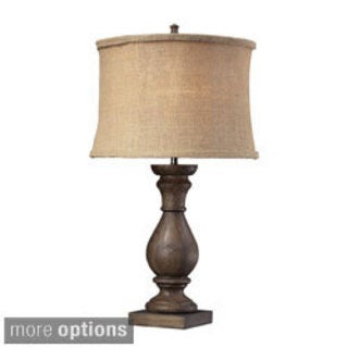 Pisgah 1-light Dark Oak Table Lamp
