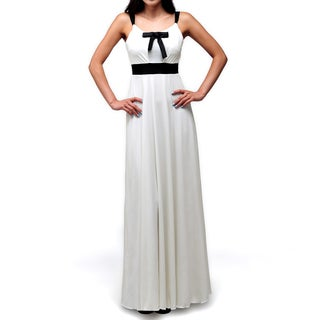 Evanese Women's Cute Ribbon Long Dress with Adjustable Bust Covers