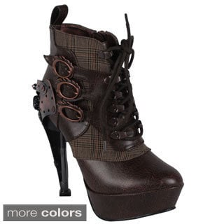 Hades Women's 'Oxford' Steampunk Ankle Bootie