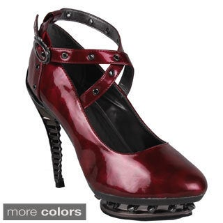 Hades Women's 'Triton' Skeleton Molded Heel Cross-strap Pumps