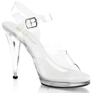Pleaser Women's 'Flair-408' 4 1/2-inch Stiletto Heel Ankle Strap Platform Sandal