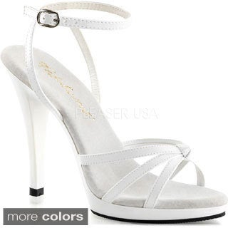 Pleaser Women's 'Flair-436' Ankle Wrap Strappy Platform Sandals