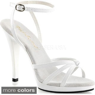 Pleaser Women's 'Flair-436' Ankle Wrap Strappy Platform Sandals