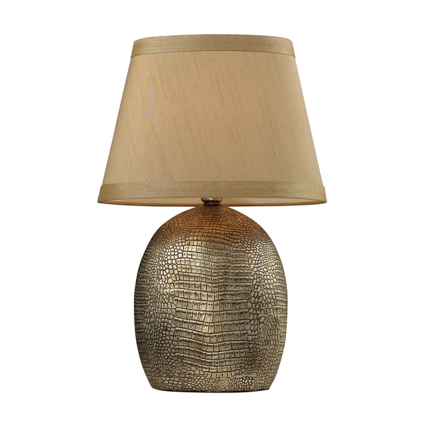 Gilead 1-light Alligator Texture with Bronze Finish Table Lamp