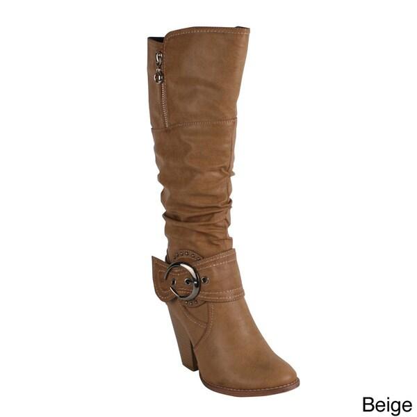 Reneeze Women's 'Choice-2' High Heel Knee High Boot