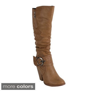 Reneeze Women's 'Choice-2' High Heel Knee High Boot