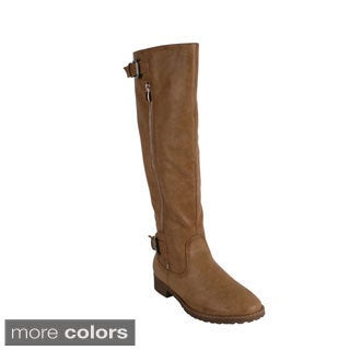 Reneeze Women's 'GAP-01' Knee High Riding Boots