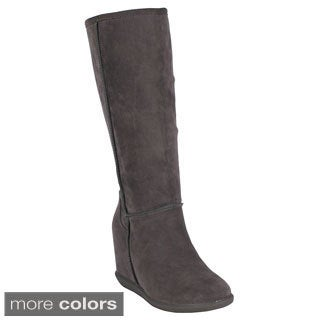 Mark & Maddux Women's 'Tom-02' Concealed Wedge Knee High Boots