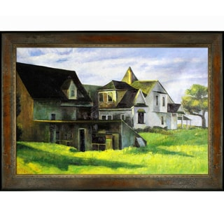 Edward Hopper 'Cape Cod Afternoon' Hand Painted Framed Canvas Art