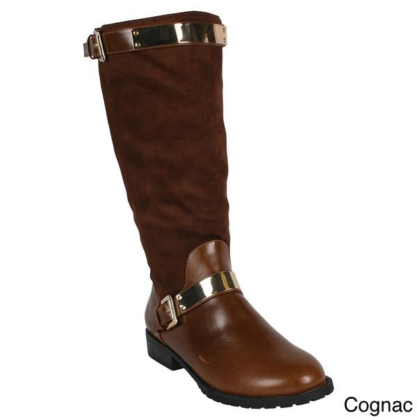 Mark & Maddux Women's 'Philip-03' Mid Calf Flat Boots