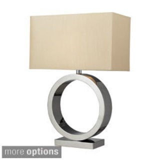 Aurora 1-Light Chrome Circle Table Lamp