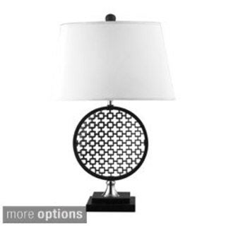 Prospect 1-light Black/ Polished Nickel Optic Illusion Table Lamp
