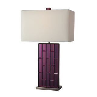 Avalon Purple Mirror and Black Nickel Table Lamp