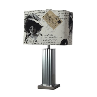 Meade 1-light Black Nickel Table Lamp
