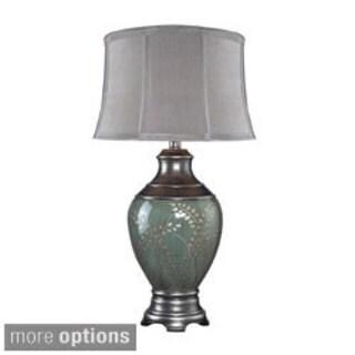 Biltmore 1-light Green Tone Hand-painted Ceramic Table Lamp