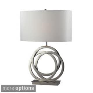 Trinity 1-light Polished Nickel Table Lamp