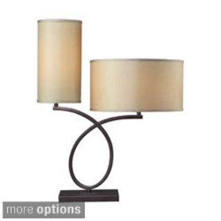 Greenwich 2-light Aged Bronze Table Lamp