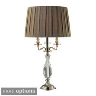 Deshler 1-light Crystal/ Polished Nickel Table Lamp