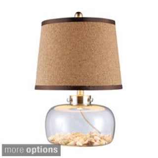 Margate 1-light Glass Seashell Filled Table Lamp