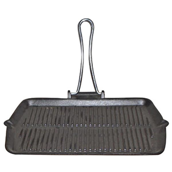 Le Cuistot Rectangular Enameled Cast-iron Foldable Grill