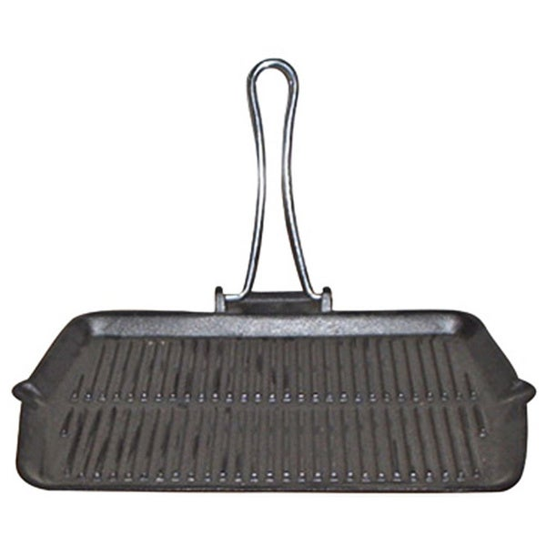 Le Cuistot Rectangular Enameled Cast-iron Foldable Grill