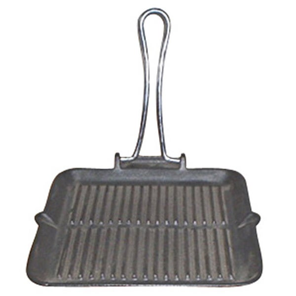 Le Cuistot 8.5-inch Square Enameled Cast-iron Folding Grill