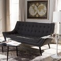 Baxton Studio Tamblin Gray Linen Modern Loveseat