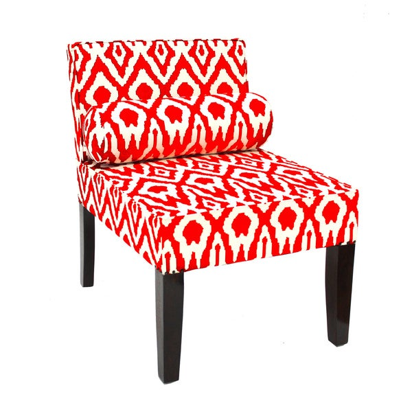 Red Ikat Chair and Pillow (India)
