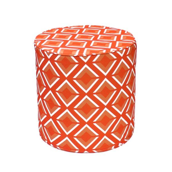Orange Argos Round Pouf Ottoman (India)
