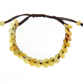Handmade Yellow Jade Bracelet (China)