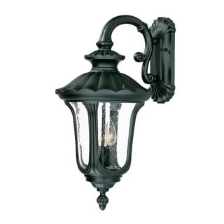 Augusta Collection Wall-mount 3-light Outdoor Matte Black Light Fixture