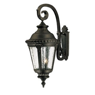 Surrey Collection Wall-Mount 4-Light Outdoor Black Gold Light Fixture