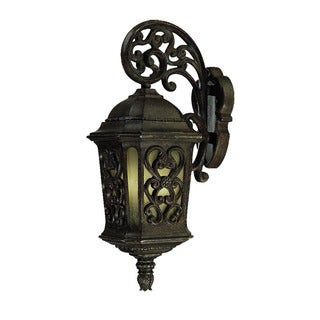 Manorgate Collection Wall-Mount 2-Light Outdoor Black Coral Light Fixture