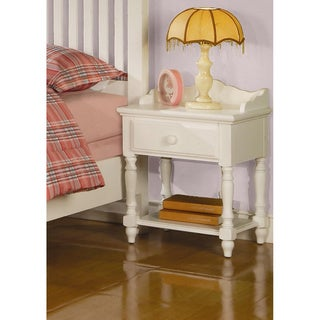 Zoe White Traditional Nightstand with Drawer