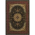 Izmir Royal Kashan/ Black Area Rug (3'11 x 5'3)