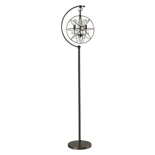 Restoration Globe Crystal Floor Lamp