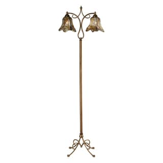 Metal 2-light Winter Gold Floor Lamp