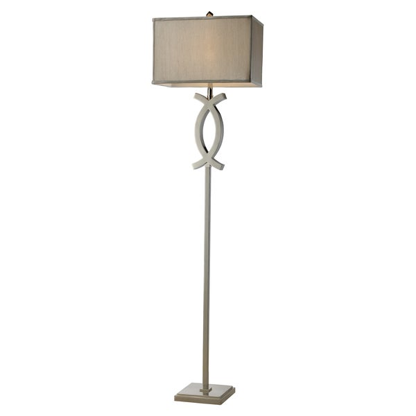 Polished Nickel Contemporary Floor Lamp