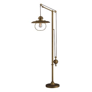 Farmhouse Antique Brass Floor Lamp