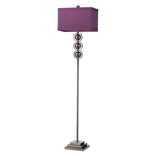 Purple Alva Cont Floor Lamp