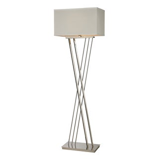 1-light Polished Nickel Floor Lamp