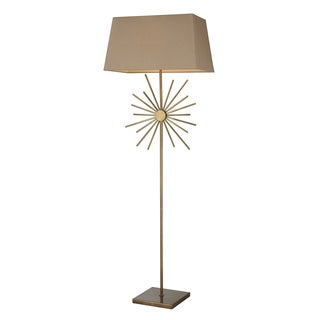 Springtown Antique Brass Floor Lamp