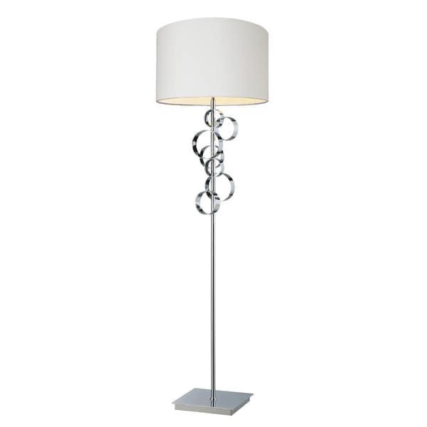 Avon Contemporary Chrome Floor Lamp